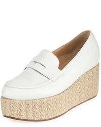 Gabriela Hearst Leather Penny Loafer Espadrille
