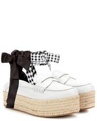 Leather platform loafers medium 6860645