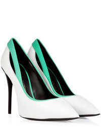 Giuseppe Zanotti Leather Pointy Toe Pumps With Contrast Trim