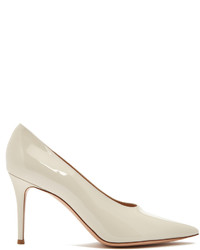 Gianvito Rossi Muriel Point Toe Leather Pumps
