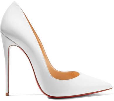promo code 7bb72 b1c0c $725, Christian Louboutin So Kate 120 Patent Leather Pumps White