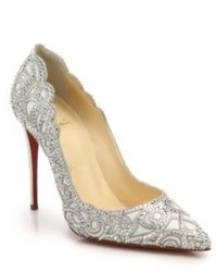Christian Louboutin Top Vague Crystal Leather Pumps