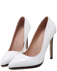 White Point Toe High Stiletto Heel Pumps