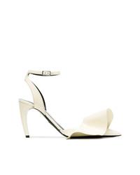 Proenza Schouler White Ruffle Detail 90 Leather Pumps