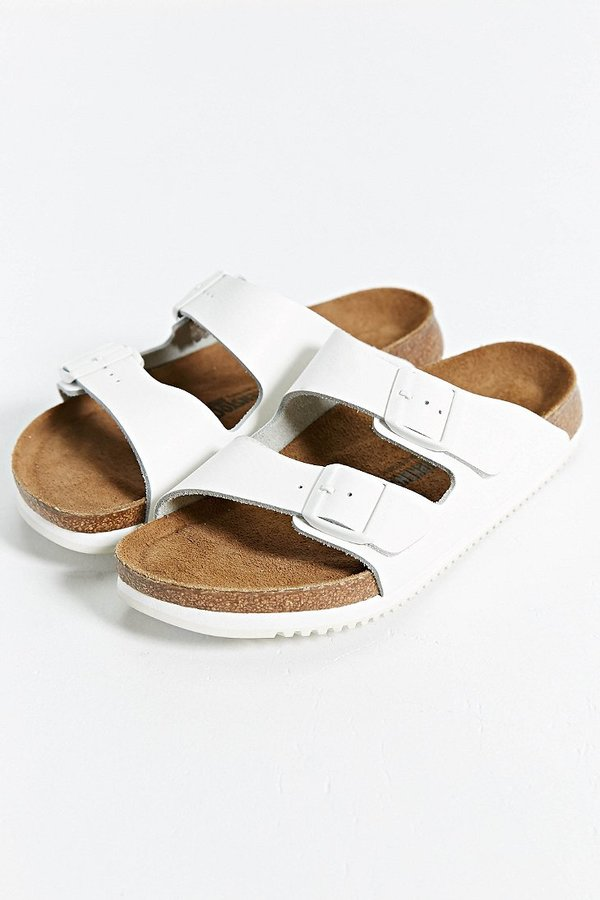 77993c13627 ... White Leather Sandals Birkenstock Arizona Super Grip Sandal ...