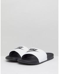 Nike Benassi Jdi Sliders In White 343880 100