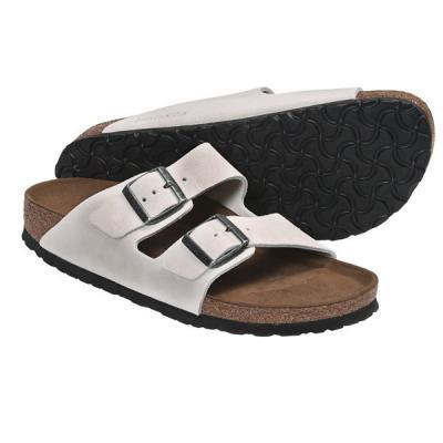 07cc7e45291 Birkenstock Arizona Soft Footbed Sandals Leather White Sand Suede ...
