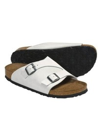 Birkenstock Zurich Sandals White Sand Suede
