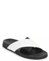 Balmain Cross Leather Sandals