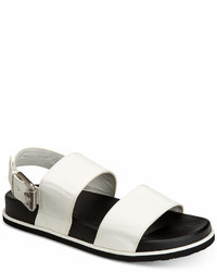 Calvin Klein Magnum Smooth Tumbled Leather Sandals Shoes