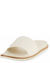 Fendi Rubber Slide Sandals W Raised Logo Detail