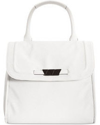 White Leather Satchel Bag