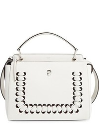 Dotcom lace up leather satchel white medium 828478