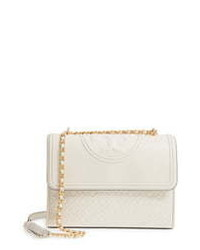 Tory Burch Fleming Quilted Lambskin Leather Convertible Shoulder Bag