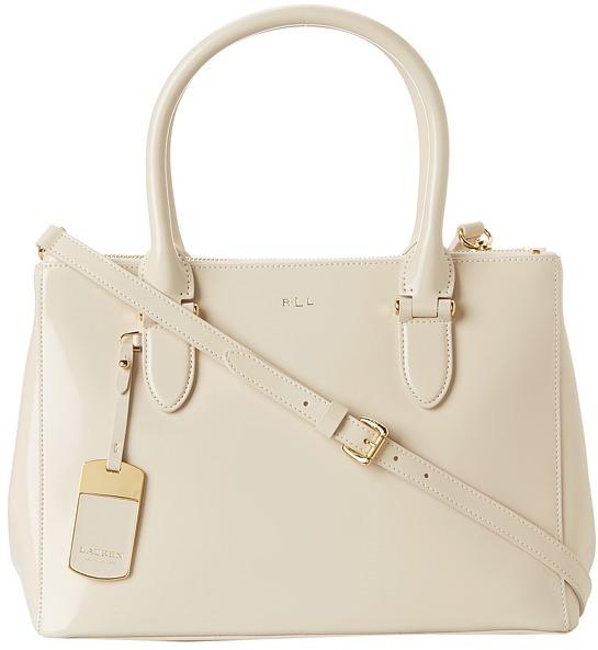 895d2ffab6db ... satchel handbags 3e9e0 10b5c  clearance lauren by ralph lauren taylor  double zip shopper handbag 44412 d64a7