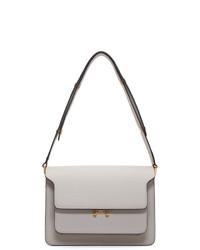 Marni Off White Saffiano Medium Trunk Bag