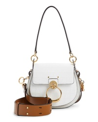 Chloé Small Tess Croc Embossed Calfskin Shoulder Bag