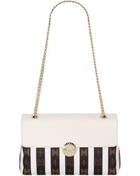 Striped Pvc Shoulder Bag Wleather