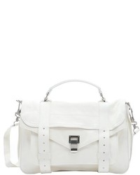 Proenza Schouler White Leather Ps1 Medium Convertible Satchel