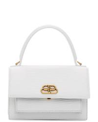 Balenciaga White Xs Sharp Satchel Bag