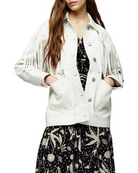 Topshop Roy Fringe Leather Jacket