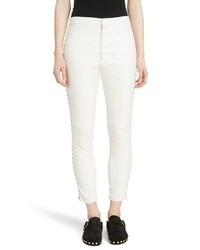 Isabel Marant Medley Lace Up Side Lambskin Leather Pants