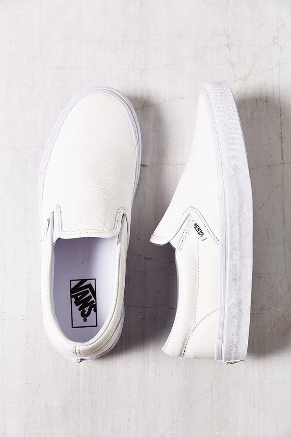 72e089da22 ... Vans Classic Premium Leather Slip On Sneaker ...