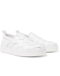 Bottega Veneta Dodger Intrecciato Leather Slip On Sneakers