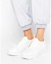 G Star G Star Scuba White Leather Slip On Sneakers