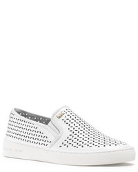 Michael Kors Michl Kors Olivia Leather Slip On Sneaker