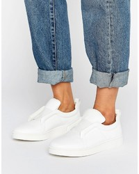 Sol Sana Mickey Slip On White Leather Sneakers