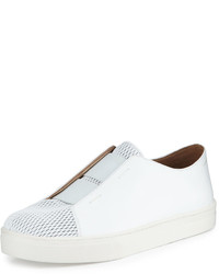 Eileen Fisher Rad Perforated Leather Sneaker White
