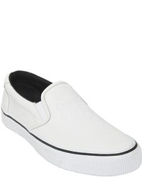 Tiger leather slip on sneakers medium 598832