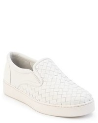 Bottega Veneta Woven Leather Slip On Sneakers