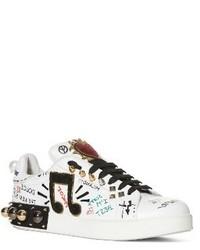Dolce & Gabbana Dolcegabbana Mixed Media Sneaker