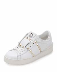 Valentino Garavani Rockstud Untitled Leather Sneakers White
