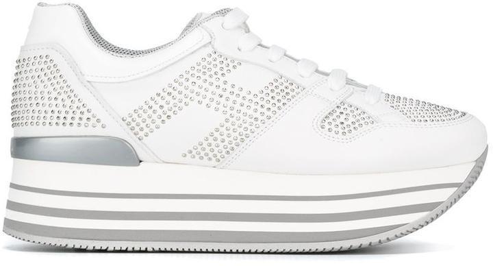 Hogan Maxi H222 Club Sneakers, $476   farfetch.com   Lookastic