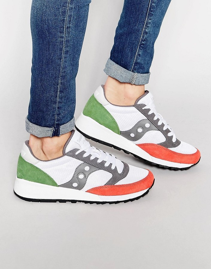 hot sale online 3a212 4aa1d $122, Saucony Jazz 91 Sneakers In White S70216 3