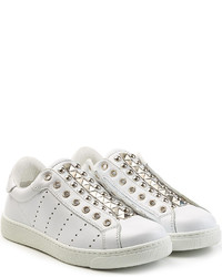 Dsquared2 Leather Sneakers With Studs
