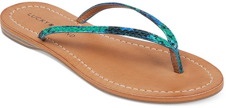 2923f6d138b16c Lucky Brand Amberr Flip Flops