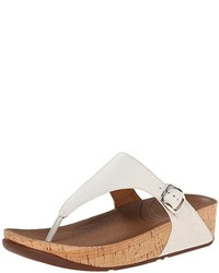 ec8caa2bd Women s White Leather Thong Sandals by FitFlop