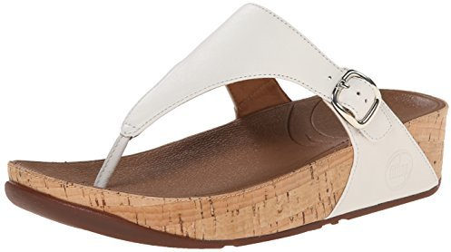541266048 ... White Leather Thong Sandals FitFlop The Skinny Cork Leather Flip Flop
