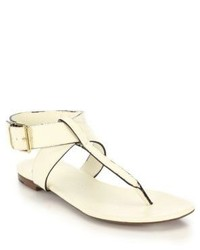 Burberry Kington Flat Leather Thong Sandals