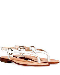 Diane von Furstenberg Leather Thong Sandals