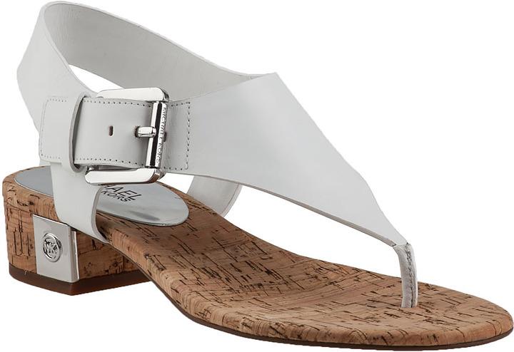 ad00299e851 ... MICHAEL Michael Kors Michl Michl Kors London Thong Sandal White Leather  ...
