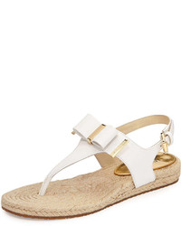 e8b293a4d35 ... MICHAEL Michael Kors Michl Michl Kors Meg Bow Detail Flat Thong Sandal  White