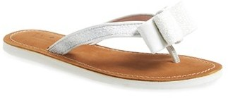 b25405c62556 ... White Leather Thong Sandals Kate Spade New York Icarda Glitter Flip  Flop ...