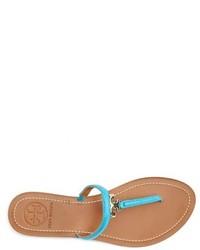57c77776c5d32c ... Tory Burch T Logo Leather Thong Sandal