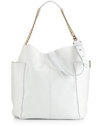 Jimmy Choo Anna Leather Tote Bag White