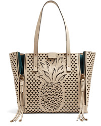 Chloé Chlo Milo Medium Perforated Leather Tote